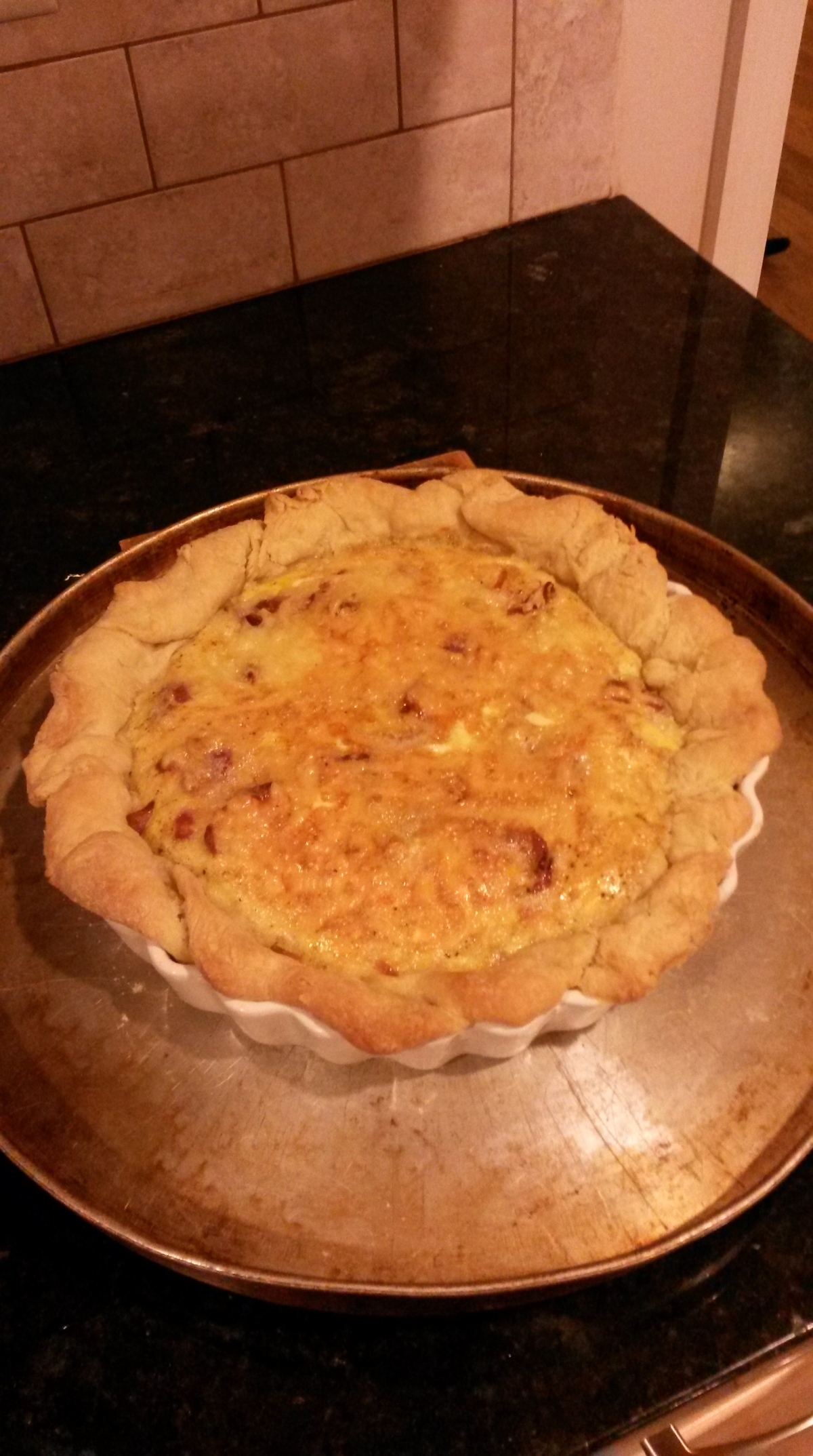 Bacon Quiche, in the French Style. #recipe #goodfood