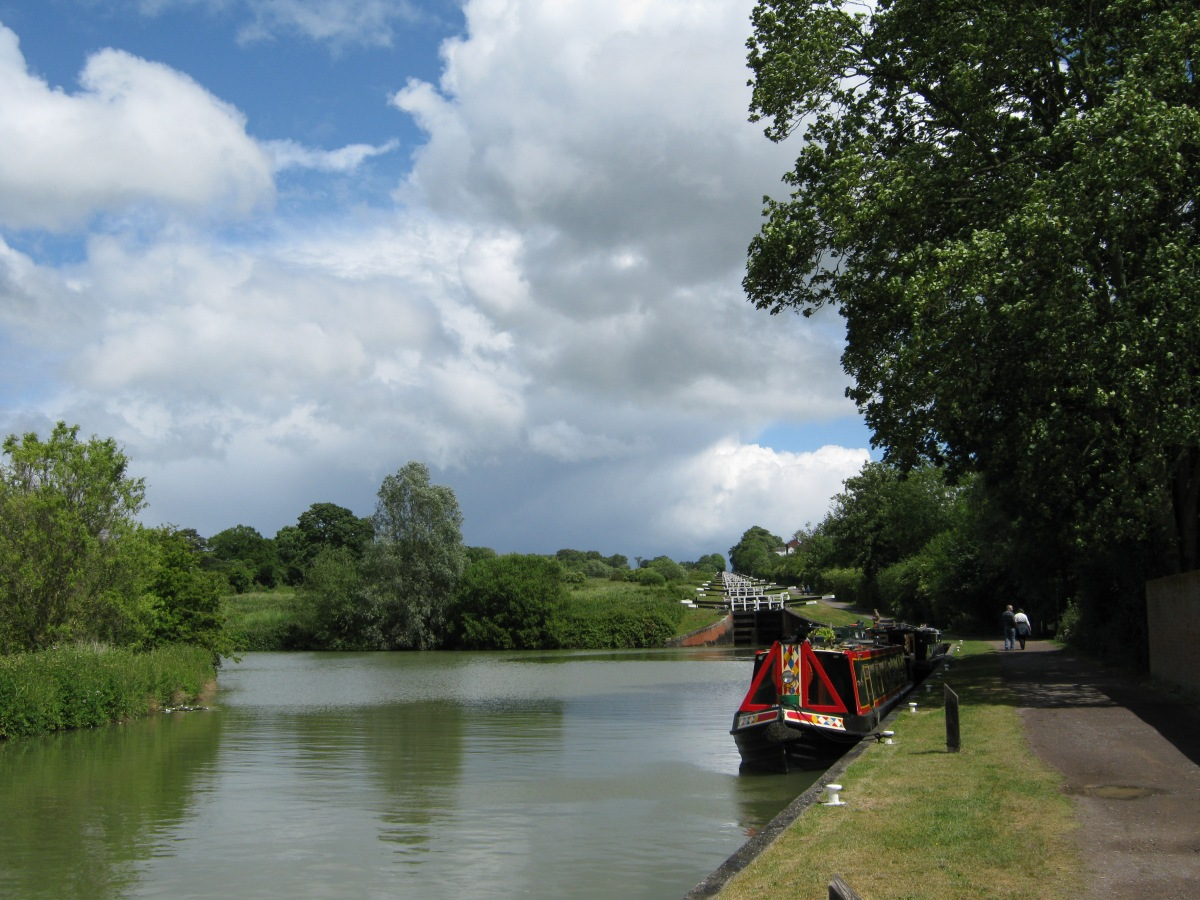 Start of the Caen Hill locks