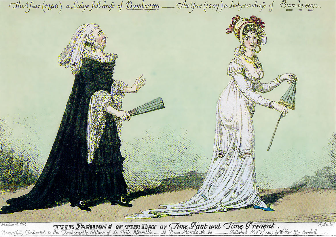 Bum-be-seen, Regency Fashion.
