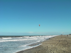 Windy Tybee Island Beach.