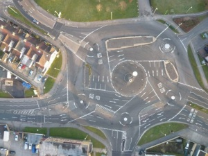 The roundabout from Hell (Swindon)