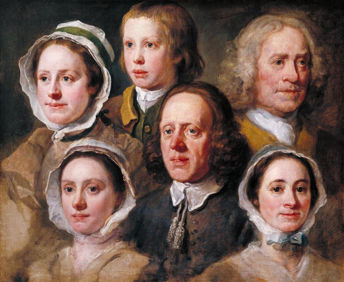 Heads of Six of Hogarth's Servants c.1750-5 William Hogarth 1697-1764 Purchased 1892 http://www.tate.org.uk/art/work/N01374